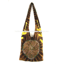 Wholesale Fashion Multicolored Long Strap Ethnic Canvas Hippie Hobo Sling Cross body Bag