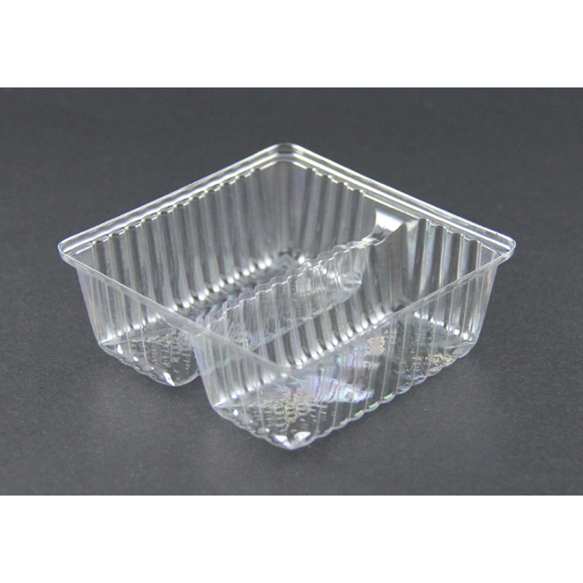 Disposable BOPS Plastic 2 Cavity Compartment Inner Tray