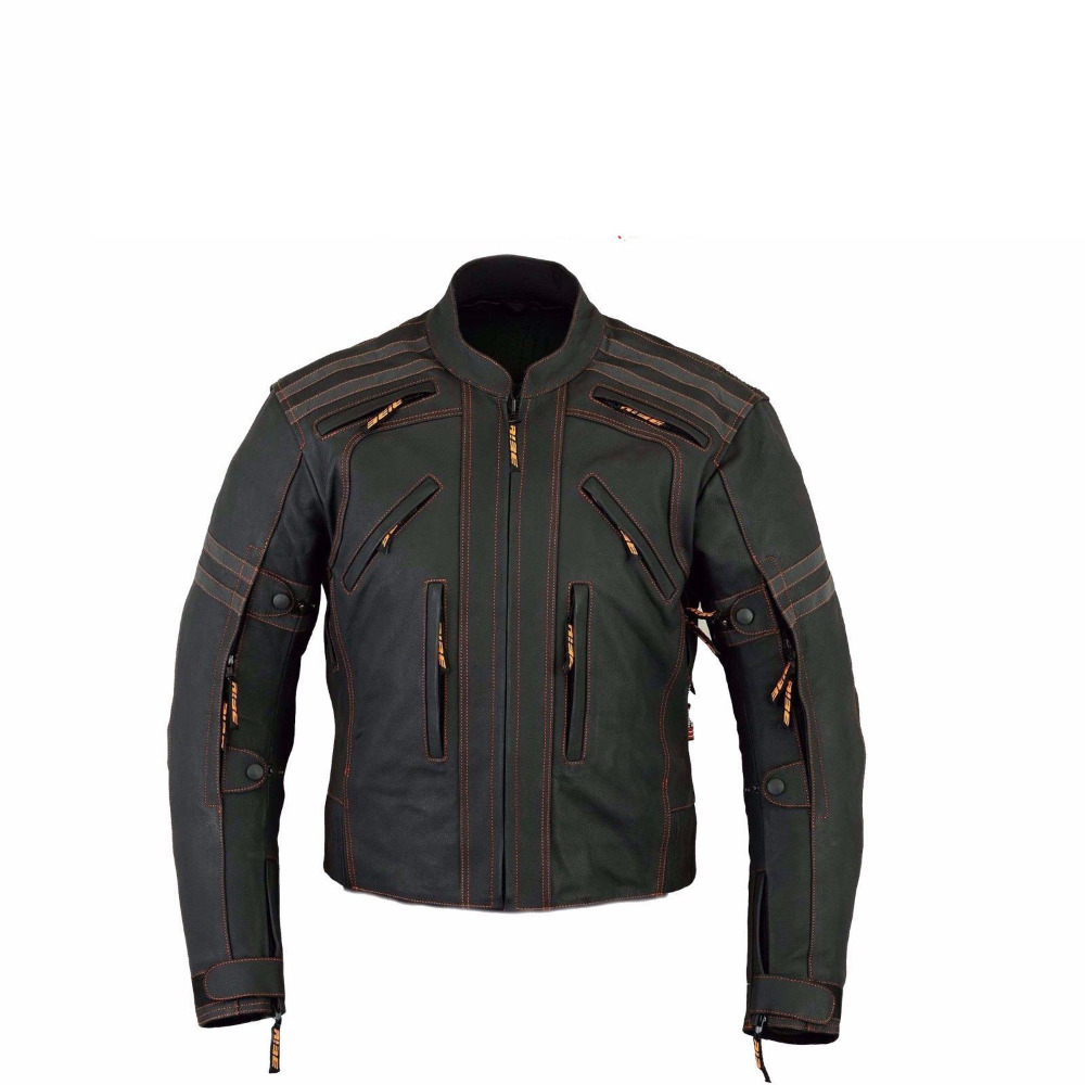 hot wholesale Biker jacket with zips and belt checkout men's fashion leather motorcycle coats washed