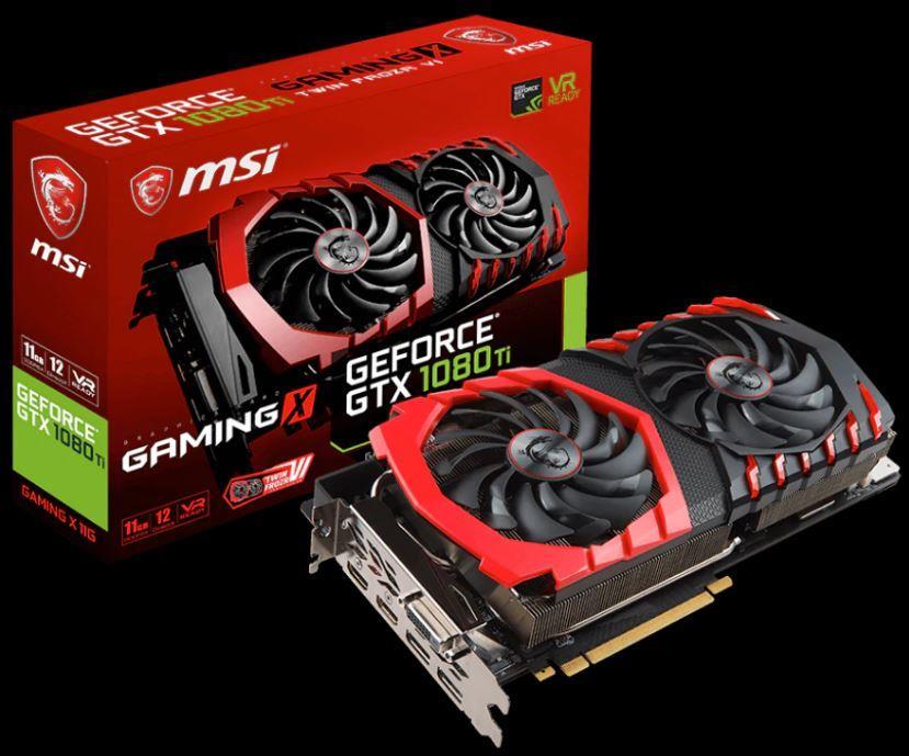 For Sale MSI Ge Force GTX 1080 Ti GAMING X 11G 11GB 352-Bit GDDR5X Video Card