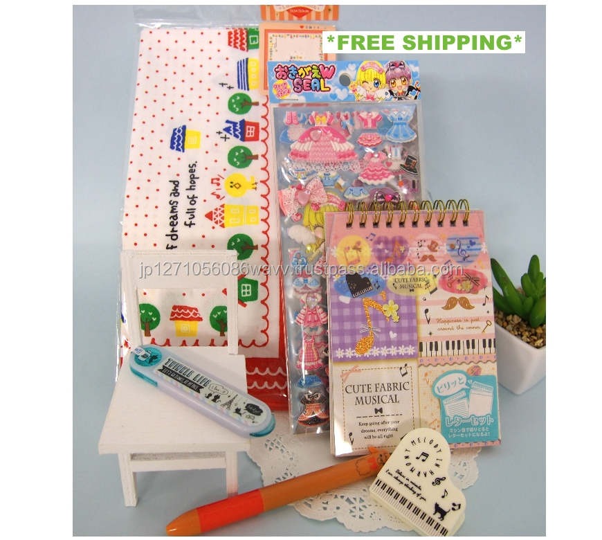 Well packaged assorted stationery items for schools , free shipping available