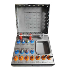 Dental implantology Basic Starter Surgical kit of 16 pieces universal 7 Drills 6 Drivers 2 pins