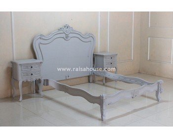 French Furniture Indonesia - Antique Louis XV Bed Diva Jepara Furniture
