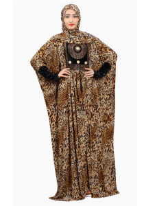 New 2018 Saudi Arabia Islamic Wear Printed Abaya Design (New Animal Printed Style)