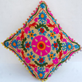 Cotton cushion cover suzani indian hand embroidered pillow cases wholesale