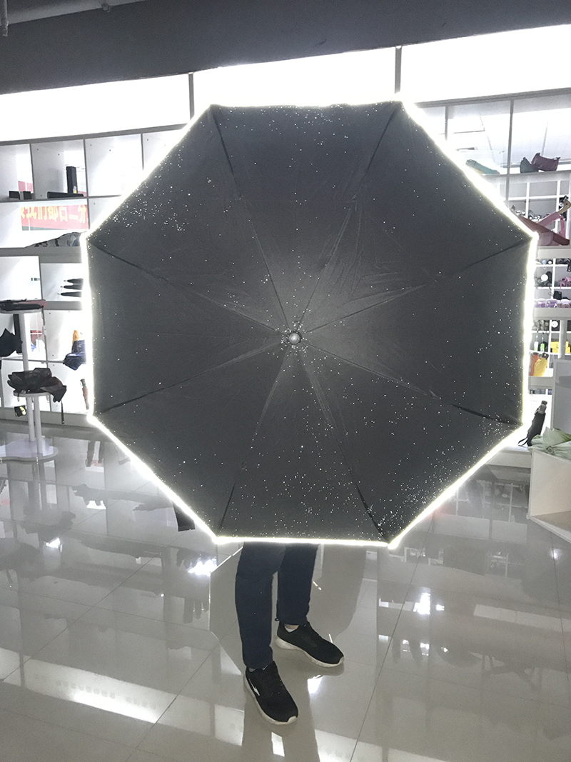 IU-08 design custom led light upside down double layer inverted umbrella with lights