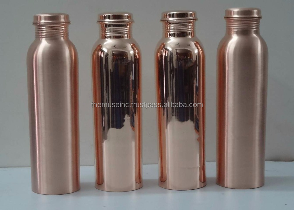 Solid Copper Water Bottle 900 ml Leak Proof and Spill Proof