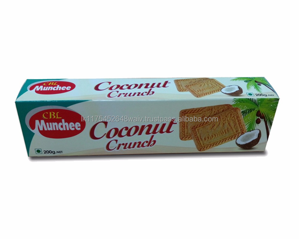 Coconut Crunch Biscuits High Quality Coconut Biscuit with Natural Coconut