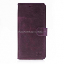 purple leather phone cases for iPhone 8 plus