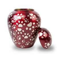 Paws of Love Red Pet Urn