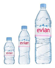 EVIAN NATURAL MINERAL WATER 330 ML AND 500ML