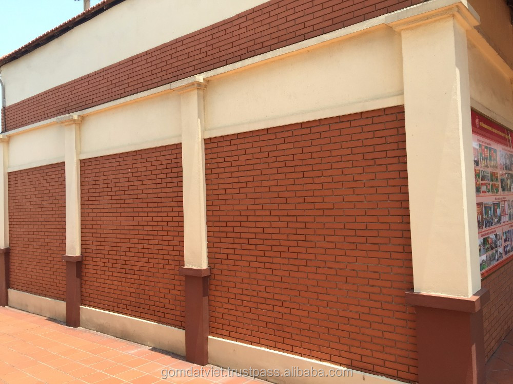 extruded terracotta tiles building material, Clay wall cladding tile 240x60x9mm