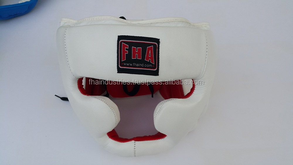 Karate head guard face protector helmet chin guard