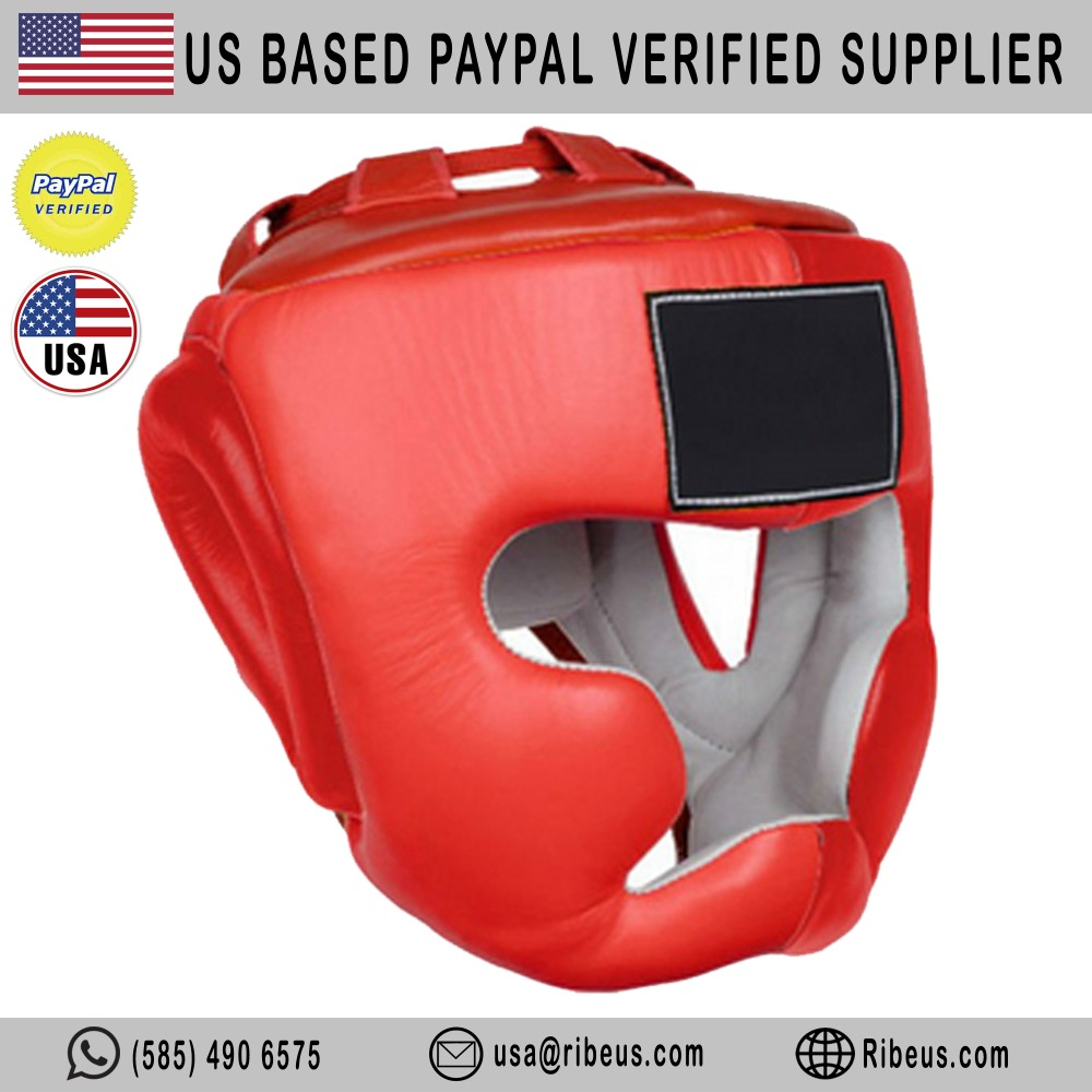 Customized Genuine Boxing Head Guard / Boxing Headgear MMA Martial Arts