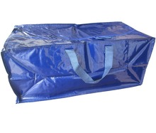 KD6535 PP woven big bag with zipper- packaging bag- metal snap on bottom