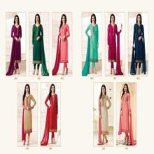 Vinay Kasees Magical Brasso Brasso Fabric SemiStitched Partywear Salwar kameez Salwar suit For Indian pakistani Women.