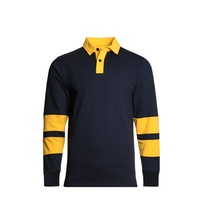 high quality custom blank rugby long sleeve polo shirt for men and women