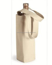 Cheap fancy wine cotton bottle bags with cotton handle