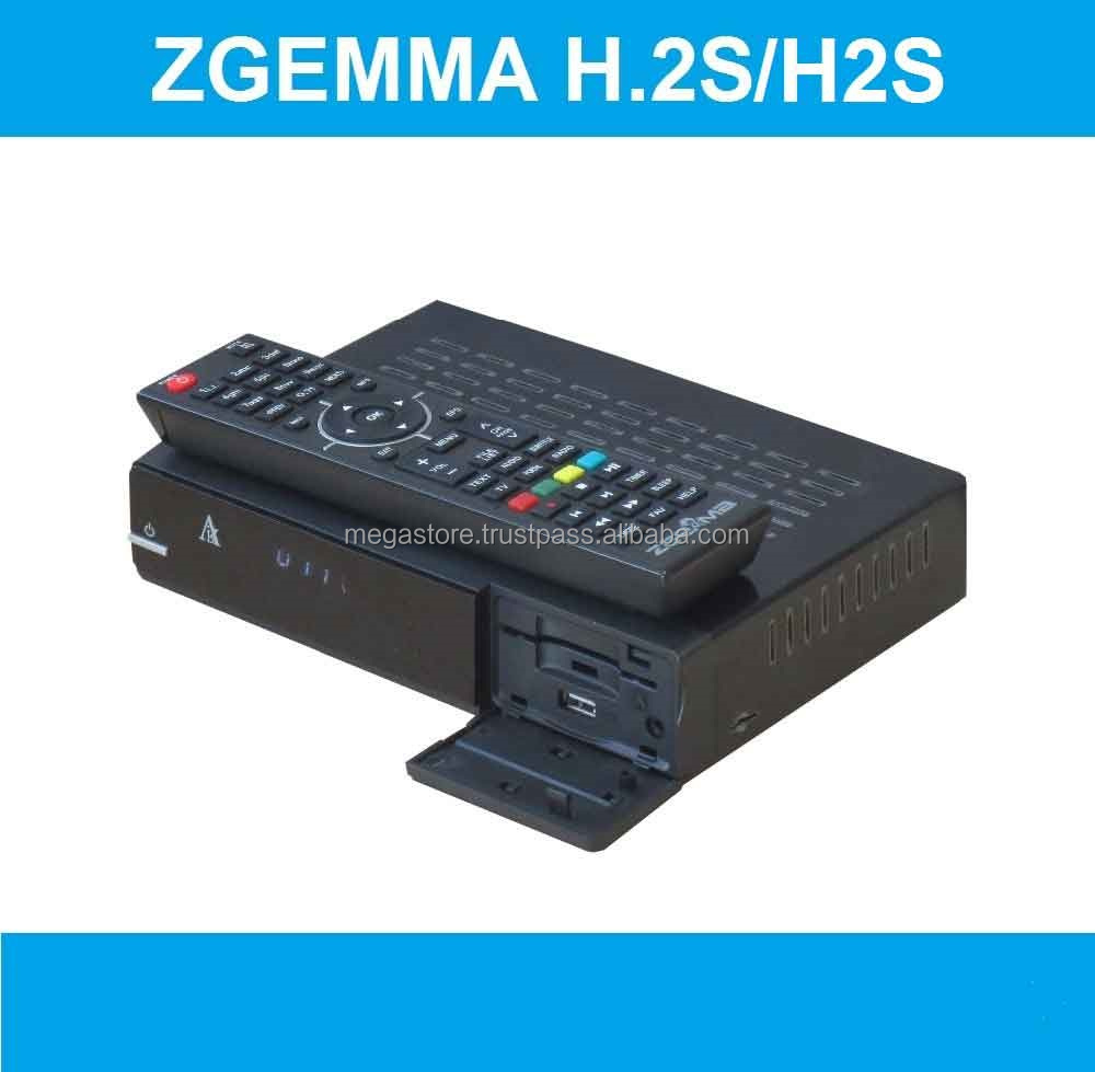 High Speed Performing ZGEMMA H.2S Satellite Receiver Dual Core Linux OS Enigma2 DVB-2xS2 Twin Tuners With IPTV Box.