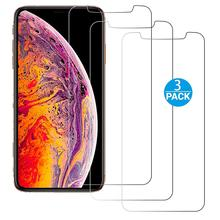 3PACK clear 2.5D 9H 0.3mm thickness tempered glass film compatible for iPhone xs,xr,xs max premium HD phone screen protector