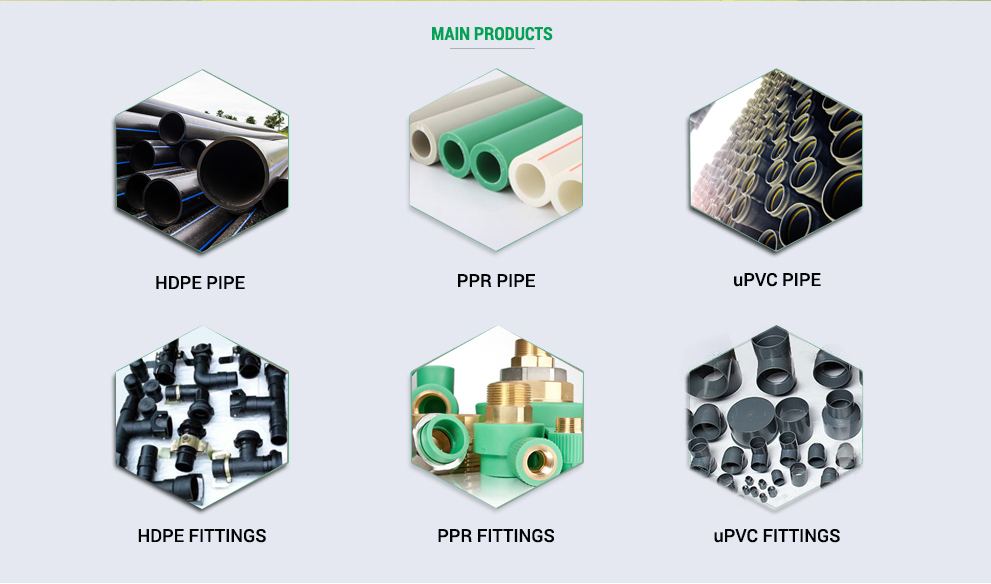 Adapter, threaded, molded, fabricated HDPE Fittings, european quality