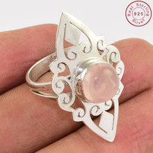 Accessories rose quartz gemstone ring below wholesale silver jewelry hot sale 925 sterling silver jewelry ring exporter