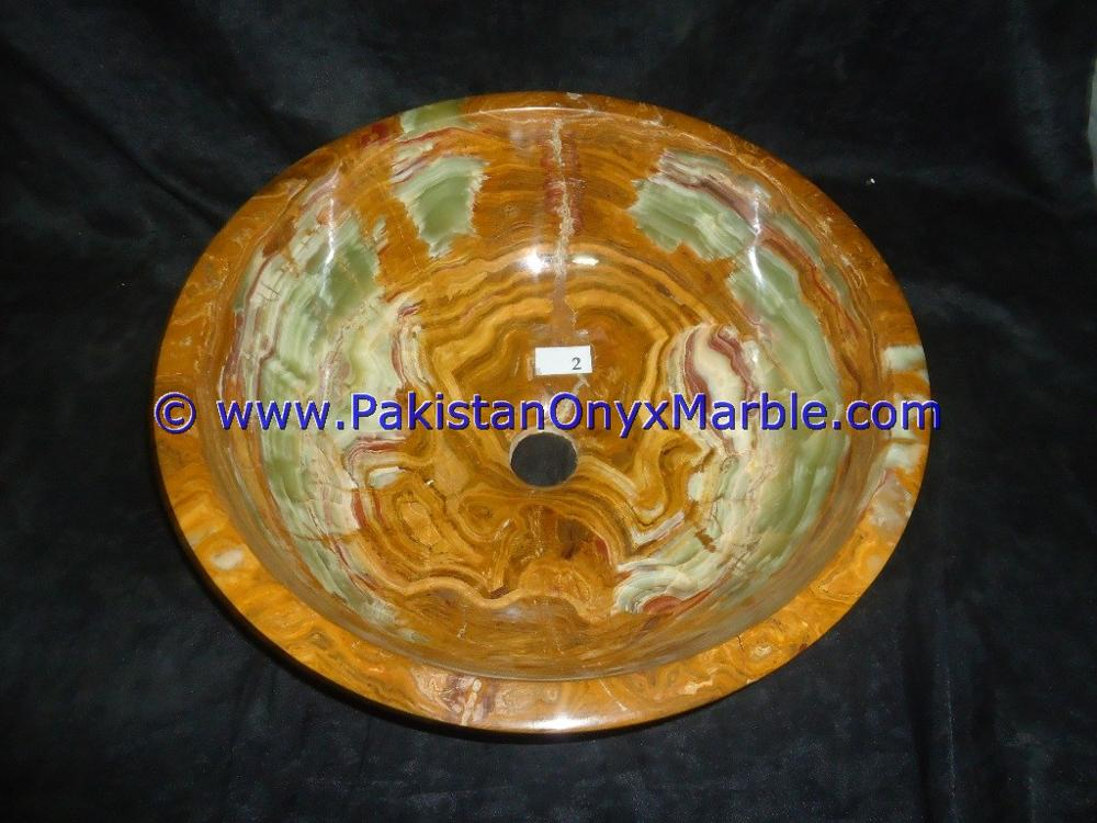 FACTORY SUPPLY BROWN GOLDEN ONYX ROUND BOWL SINKS BASINS COLLECTION