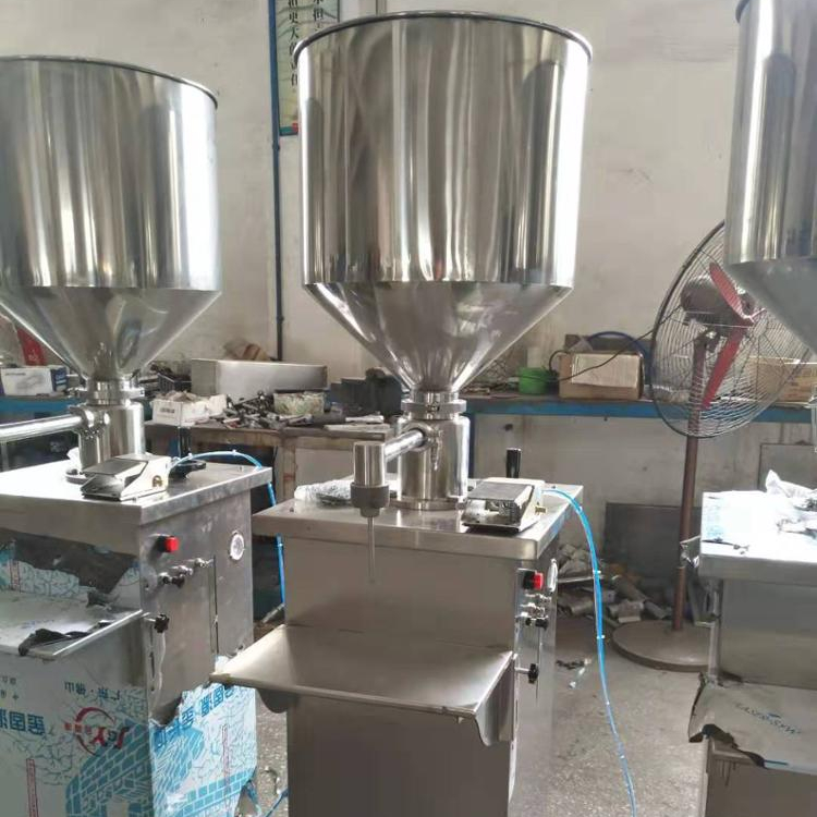 Pneumatic driven manual cream filling machine with Capacity adjustable