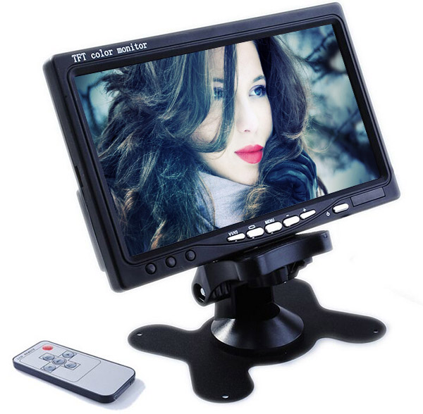 Hot Sale Wide Screen 800*480 portable 7 Inch Car LCD Monitor with BNC Input