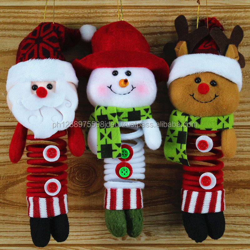Christmas decoration Santa Claus dolls, handmade Christmas ornaments