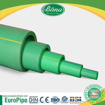 [EUROPIPE] DIN certification for full set of ppr pipe sizes chart price list