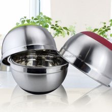 New design stainless steel single salad bowl rings with handle