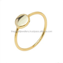 18k Gold Plated Sterling Silver Band