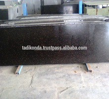 High Quality Low Prices Indian Absolute Black Granite Slabs Supplier