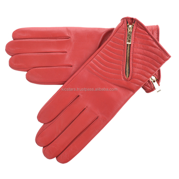 New look Stylish Fashion leather Zipper gloves 2018