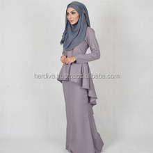Leofar Fishtail Kebaya Kaftan Islamic Dress Top Skirt OEM XXS-15XL