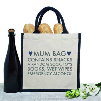2017 customized jute grocery tote bags