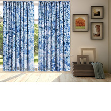 Exclusive Tie Dye Shibori Indigo Curtain Wall Door Drapes Indian Tapestry Window Drapery Curtains Treatment Panel