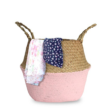 High quality wholesale belly seagrass laundry storage basket natural
