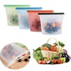 silicone Reusable leakproof food vacuum ziplock storage bag