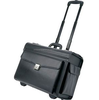Top sale leather luggage case pilot trolley bag for business