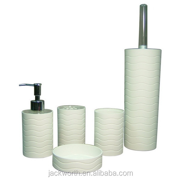 Imitate White Iron Plastic Bathroom Accessory Sets