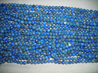 Lapis Lazuli round smooth plain finish beads strand 8mm