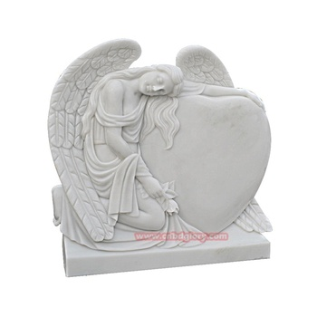 Cemetery Product Marble Sad Crying Angel Statue Tombstone