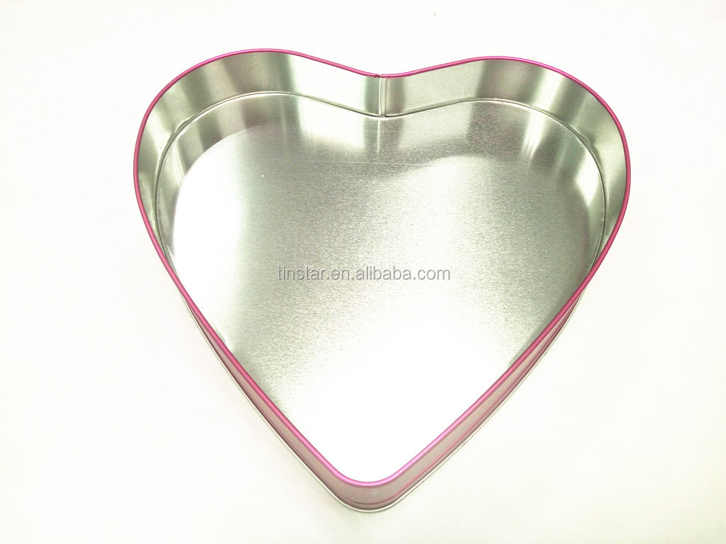 Heart shape empty metal tin cans for food packaging with ISO certified