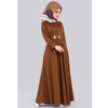 Front Buttoned & Belted Dress - Taba Modern Islamic Clothing Made in Turkey