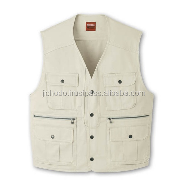 100% cotton twill fabric / work vest for men at appealing prices. Made by Japan