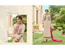 India Ethnic Designer Bollywood Fashion Stylist Faux Georgette Salwar Kammez Suit With Koti