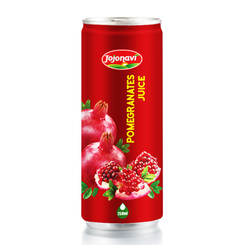 Hight Quality Wholesale Fruit Juice vietnam pomegranates juice canned 250ml