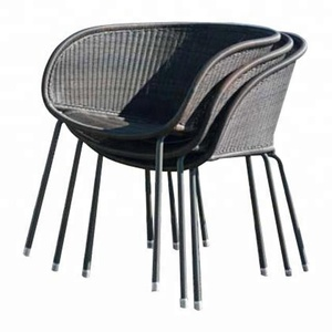 stack chair PVC poly rattan synthetic sofa dining set